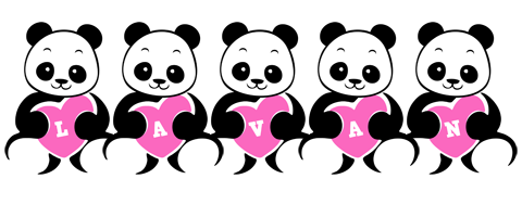 Lavan love-panda logo