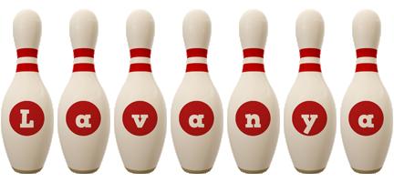 Lavanya bowling-pin logo