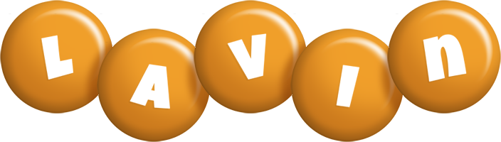 Lavin candy-orange logo