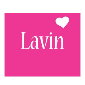 Lavin love-heart logo