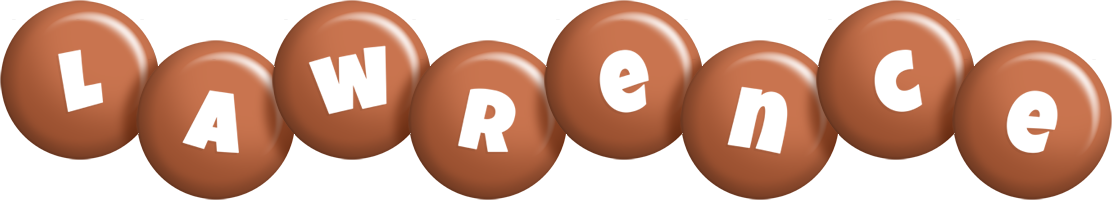 Lawrence candy-brown logo