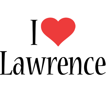 Lawrence i-love logo