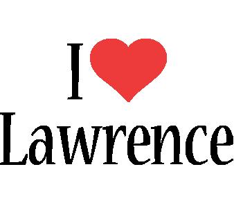 Lawrence i-love logo