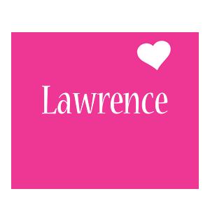 Lawrence love-heart logo