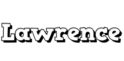 Lawrence snowing logo