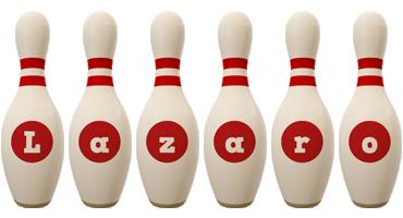 Lazaro bowling-pin logo