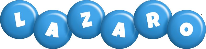 Lazaro candy-blue logo