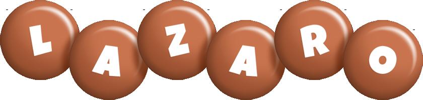 Lazaro candy-brown logo