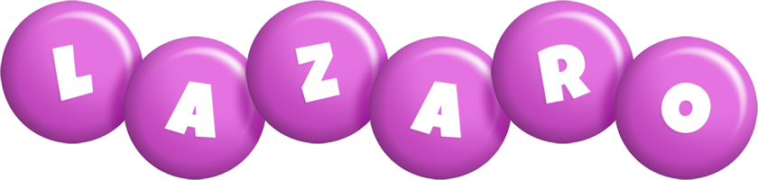 Lazaro candy-purple logo