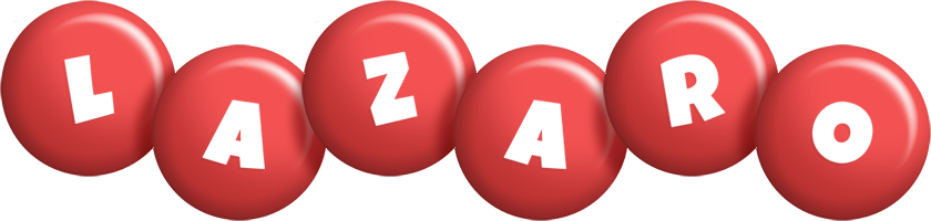 Lazaro candy-red logo