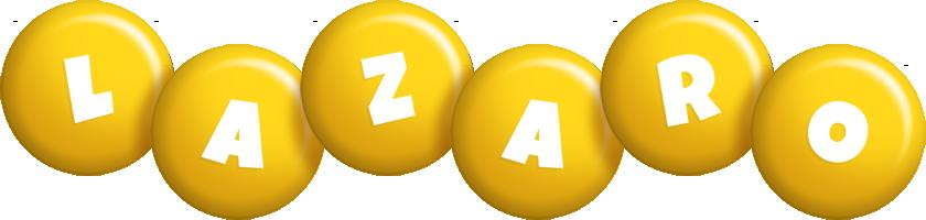 Lazaro candy-yellow logo