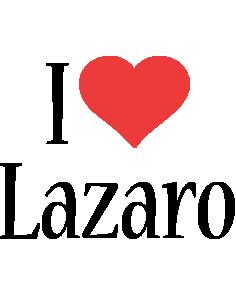 Lazaro i-love logo
