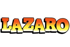 Lazaro sunset logo