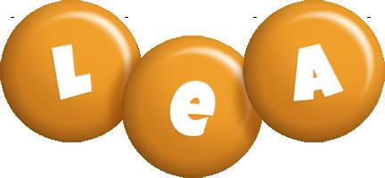 Lea candy-orange logo
