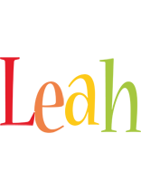 Leah birthday logo