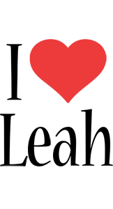 Leah i-love logo
