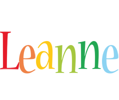 Leanne birthday logo