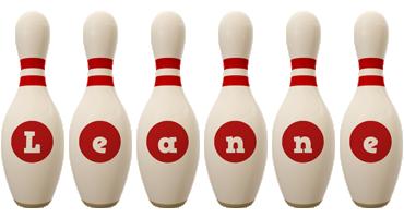 Leanne bowling-pin logo