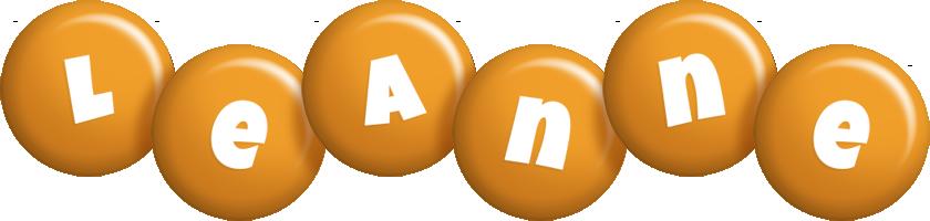 Leanne candy-orange logo