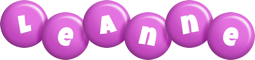 Leanne candy-purple logo