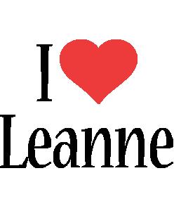 Leanne i-love logo
