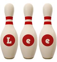 Lee bowling-pin logo
