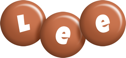 Lee candy-brown logo