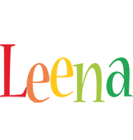 Leena birthday logo