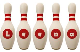 Leena bowling-pin logo