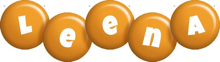 Leena candy-orange logo