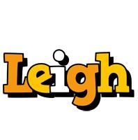 Leigh cartoon logo