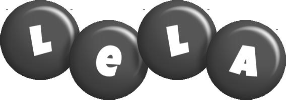 Lela candy-black logo
