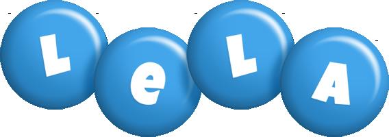Lela candy-blue logo