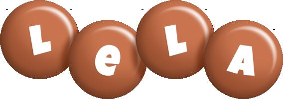 Lela candy-brown logo