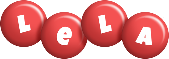 Lela candy-red logo