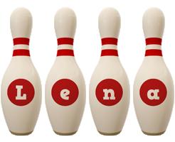 Lena bowling-pin logo
