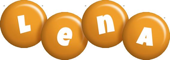 Lena candy-orange logo