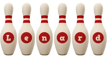 Lenard bowling-pin logo