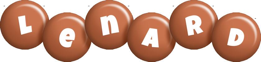 Lenard candy-brown logo