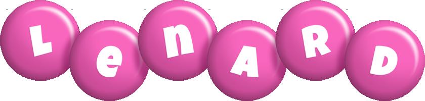 Lenard candy-pink logo