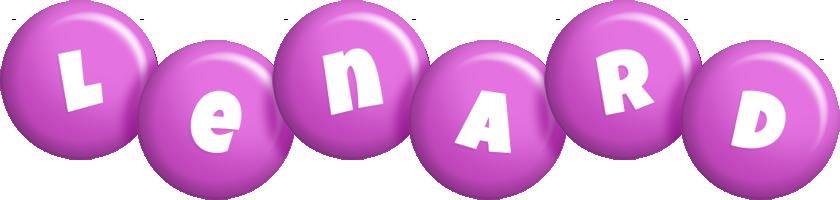 Lenard candy-purple logo