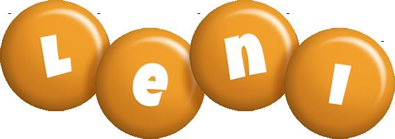 Leni candy-orange logo