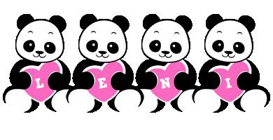 Leni love-panda logo
