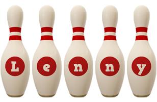 Lenny bowling-pin logo