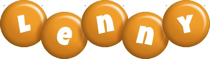 Lenny candy-orange logo