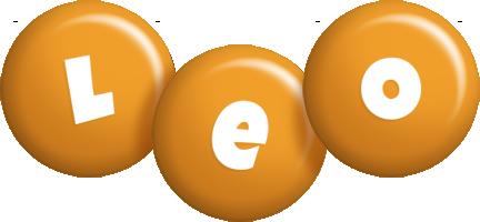 Leo candy-orange logo
