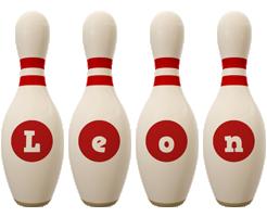 Leon bowling-pin logo