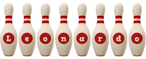 Leonardo bowling-pin logo