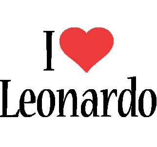 Leonardo i-love logo