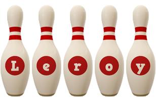 Leroy bowling-pin logo